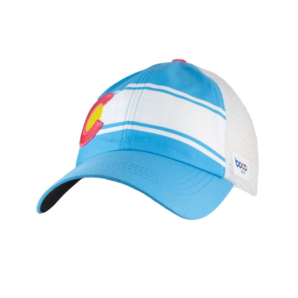 BOCO Gear Women's Technical Trucker Hat - Colorado Light Blue - Relaxed Fit