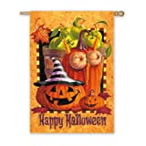 Happy Halloween 2-Sided Vertical Flag For Sale