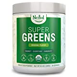 Super Greens | #1 Green Veggie Superfood Powder | 100% USDA Organic Non-GMO Vegan Supplement | 30 Servings | 20+ Whole Foods (Spirulina, Wheat Grass, Barley), Probiotics, Fiber & Enzymes (Original)
