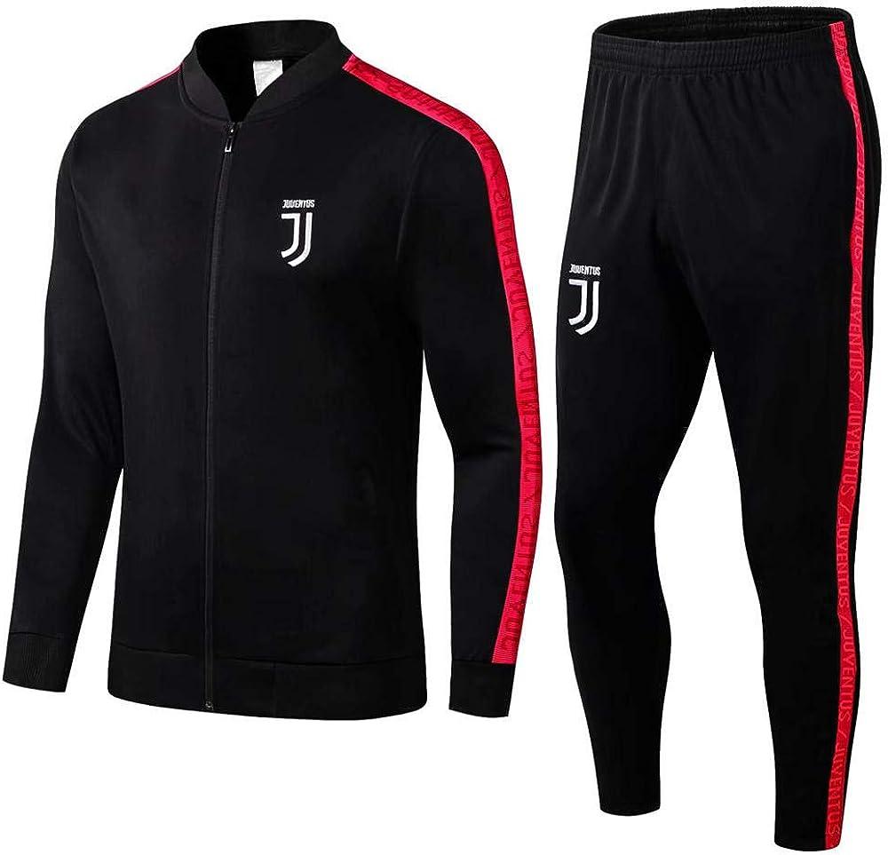 ZuanShiDaHeng 19-20 Erwachsenen Sportbekleidung Jacke Anzug Geschenk Herren Sportbekleidung Full Zipper Fitness Fu/ßballtraining Warm-Up Anzug Schwarz