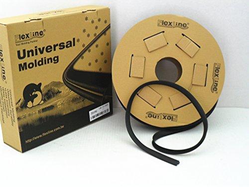 (Flexline Windshield Auto Glass Universal Molding Flexible Trim Rubber 19mm 15 FT UM1913BR )