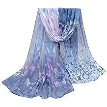 ABC® Women Scarf, Women Fashion Design Silk Printed Scarf Soft Chiffon Shawl Wrap