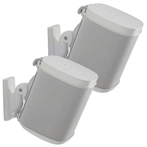 - Sanus Adjustable Sonos Wall Mount for Sonos One, Play:1, Play:3 - Tool Free Tilt & Swivel Adjustments for Best Audio - Pair (White)