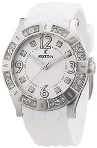 Festina F16541/1 - Reloj analógico de cuarzo para mujer con correa de plástico, color blanco