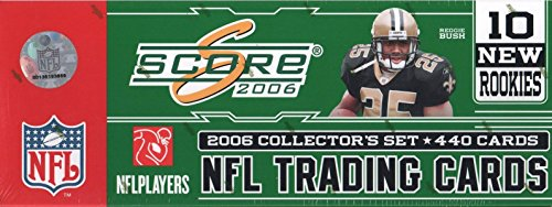 2006 Score NFL Football Factory Sealed 440 Card Collector's Set Featuring 10 New Rookie Cards Only Available in this Set