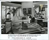 1993 Press Photo Drexel Heritage sofa is padded and plump to provide comfort