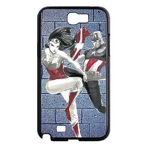 Samsung Galaxy Note 2 N7100 Phone Case Captain America And Wonder Woman AL389725