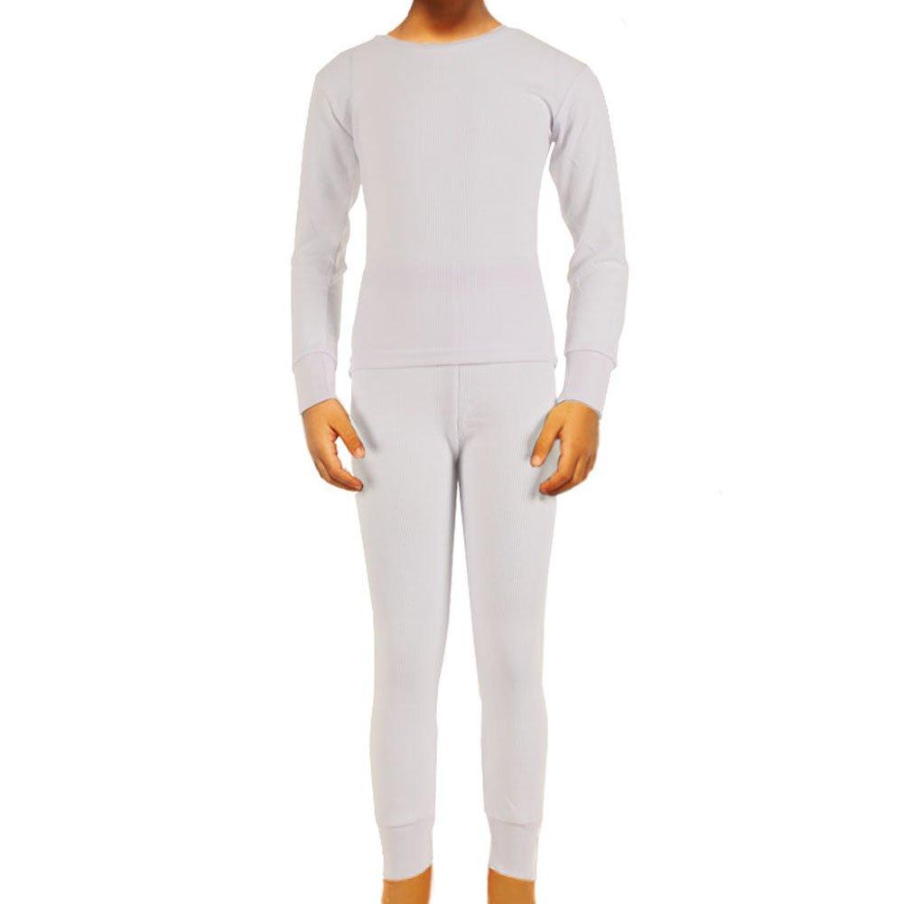 SLM Therma Tek Boys 100/% Cotton Thermal Underwear Two Piece Set