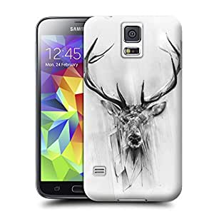 BY SHICASE Shock-Dirt Proof Cool Deer Painting Designed Tpu Case Cover For Samsung Galaxy s5