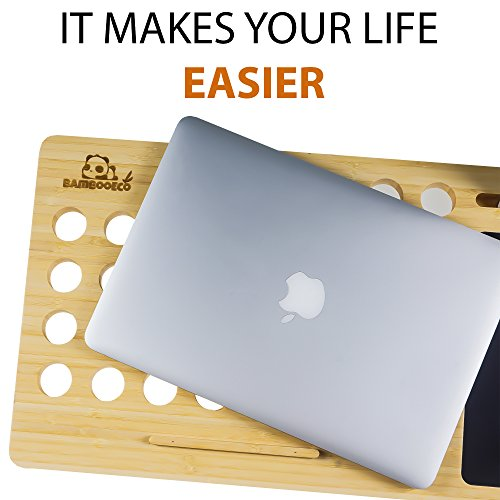 a3ddbd55d301 new Bamboo Eco Premium Bamboo Lap Desk - Portable Laptop Stand ...