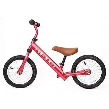 Bicicleta sin pedales Bici Bicicleta de Equilibrio de Aluminio: Asiento tapizado sin Pedales, manillares
