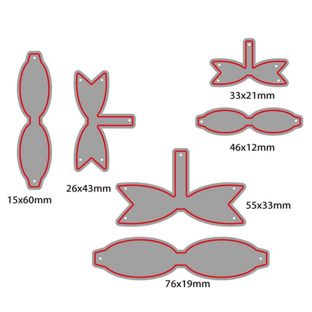 Provide The Best 6pcs de Acero al Carbono Troqueles de Corte Bowknot de Pescado de la Plantilla DIY /álbum de Recortes en Relieve Tarjeta del /álbum Crafts Conjunto de Plantillas