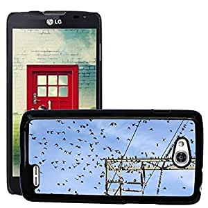 Super Stella Slim PC Hard Case Cover Skin Armor Shell Protection // M00104549 Star Stare Star Flight Flock Of Birds // LG Optimus L90 D415