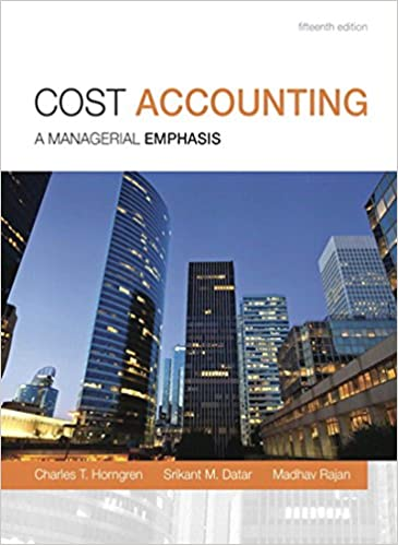 Introduction To Management Accounting 15th Edition Pdf