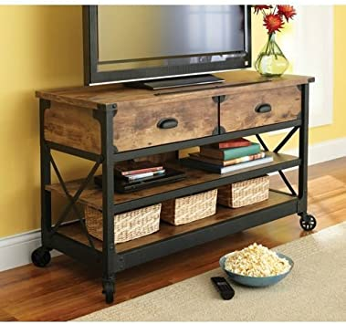 Amazon Com Better Homes Gardens Rustic Vintage Country Coffee Table End Table Tv Stand Set This Rustic Living Room Set Will Bring That Restored Vintage Feel To Your Living Room Furniture