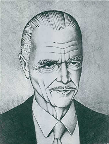 Vintage photo of Illustration of Howard Hughes.