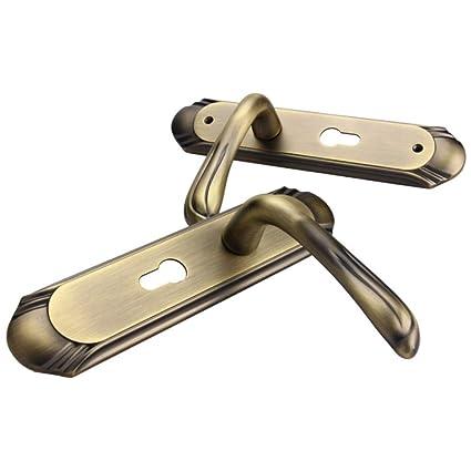 ZHFC Mecánico Cerradura de Puerta Conjuntos de manija para Puerta corredera Herrajes cerraduras Aleación de Zinc