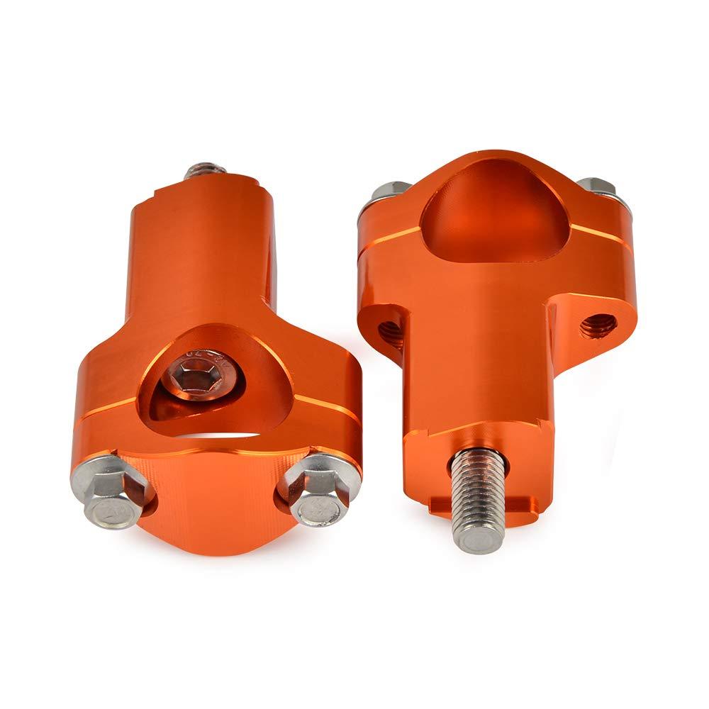 H2RACING 28MM Orange Support Guidon de Guidon pour Guidon de Moto K-T-M 690 Enduro//R//SMC//SMCR//ABS,300//500 EXC//350 EXC-F,125-530cc SX//SX-F//XC,1190 Adventure//R//ABS,1050//1250