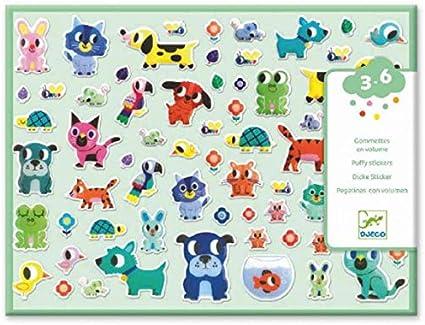 DJECO Beb/és de animales Pegatinas Globos UNISEX-INFANTIL multicolor 39084