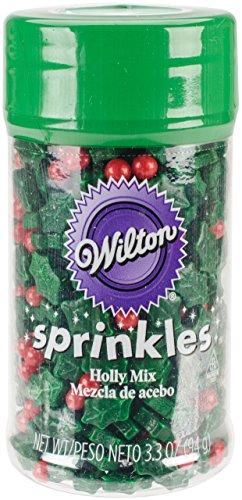 (Wilton W5085 Sprinkles 3oz, Holly Mix)