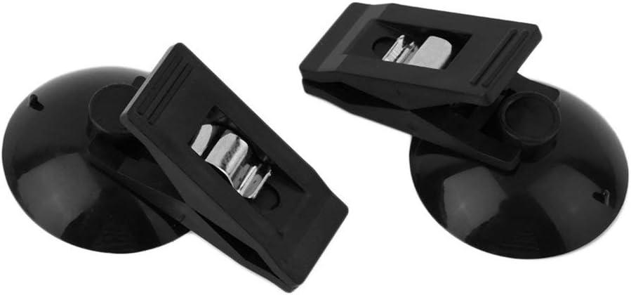 Fisoul 2 clips universales de pl/ástico con ventosa para sujetar tarjetas de cortina