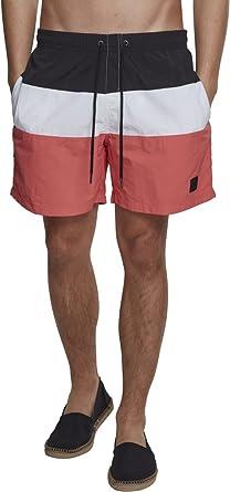 TALLA S. Urban Classics Color Block Swimshorts Camiseta de natación para Hombre