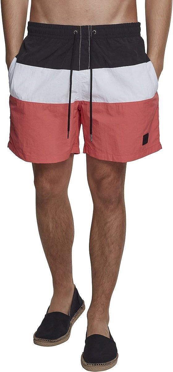 TALLA S. Urban Classics Color Block Swimshorts Bañador para Hombre