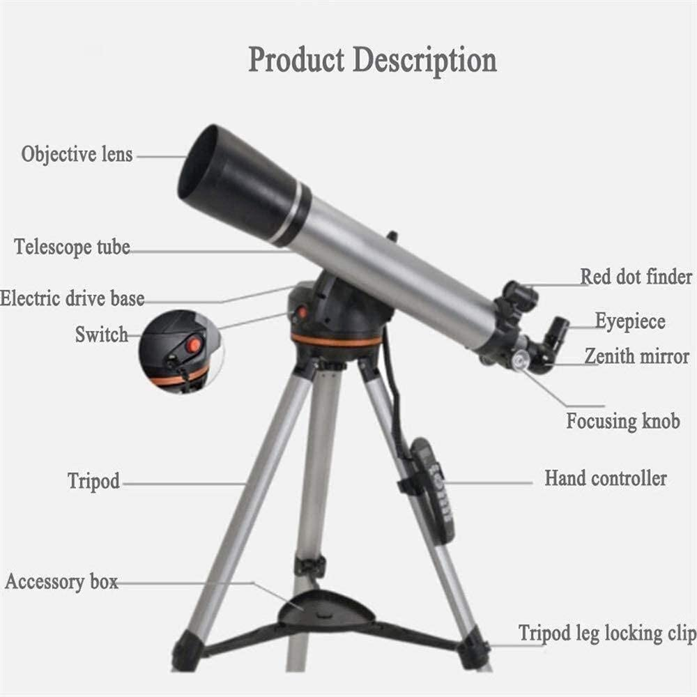 Binoculars Spotting Scopes Star Refraction 90Mm Hd Fully Coated Optical Lens Automatic Search Tripod Full-Surface Coating Like Zenith Mirror Red Dot Finder Mirror