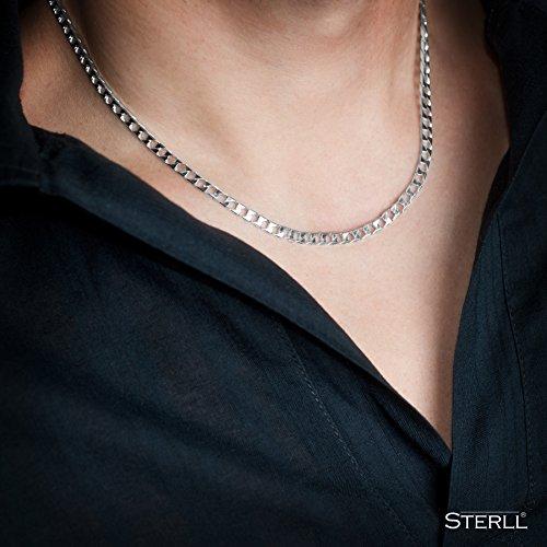 2fcd62c473d7 Nuevo STERLL Cadena de hombre de plata de ley 925 cadena sin colgante bolsa  de joyería