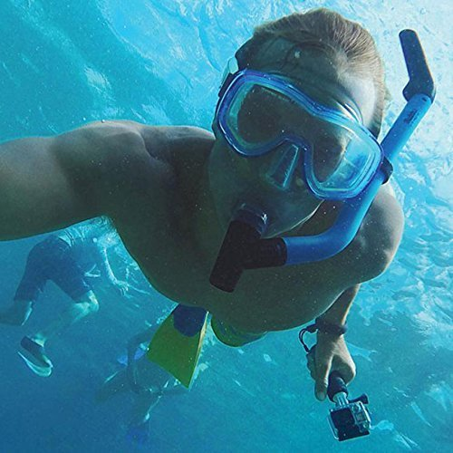 Mystery Waterproof Floating Hand Grip, Underwater Selfie Stick for Gopro Hero Session, Pro Cameras Float Handle, Scuba/Diving Action Camera Accessories (Blue)