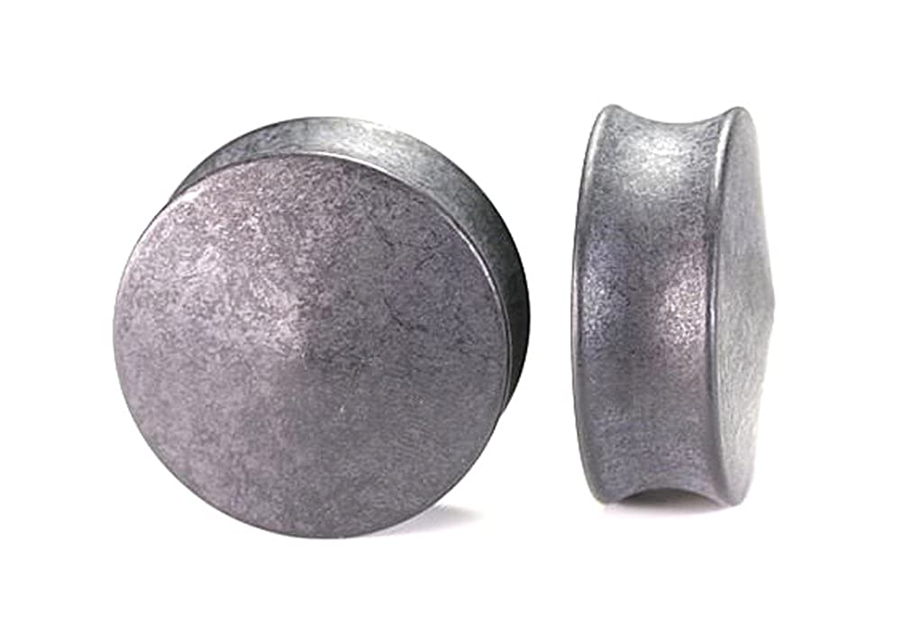 Painful Pleasures NYLON Charcoal Double Flare Solid Plugs from 2g up to 1-3//8 Price Per 1