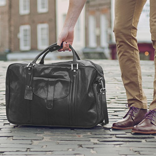 Maxwell Scott Luxury Black Leather Suitcase Bag for Men (The Maurizio) by Maxwell Scott Bags (Image #7)