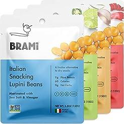 BRAMI Lupini Beans Snack, Variety Pack |...