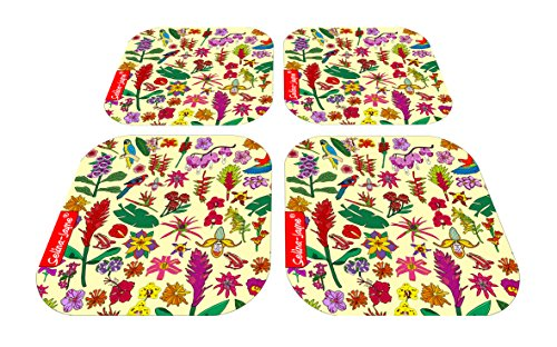 (Selina-Jayne Tropical Flowers Limited Edition Designer Coaster Gift Set)