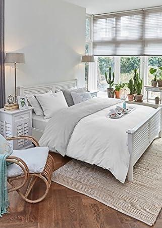 Riviera Maison Bettwäsche Long Bay Hellgrau 200x220 Amazonde