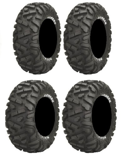 Full set of Maxxis BigHorn Radial 26x9-12 and 26x12-12 ATV Tires ()