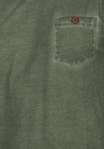 100 Algodón shirt solid Corta Manga Camiseta 3785 V Con Para Hombre Ivy neck Tinny Básica Climb De T CqxgBO6Fw