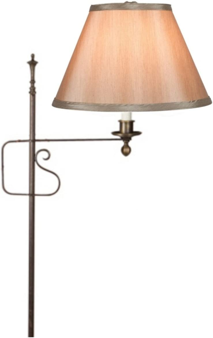 Upgradelights Clip On 10 Inch Lamp Shade Replacement in Tan Silk 6x10x7.5