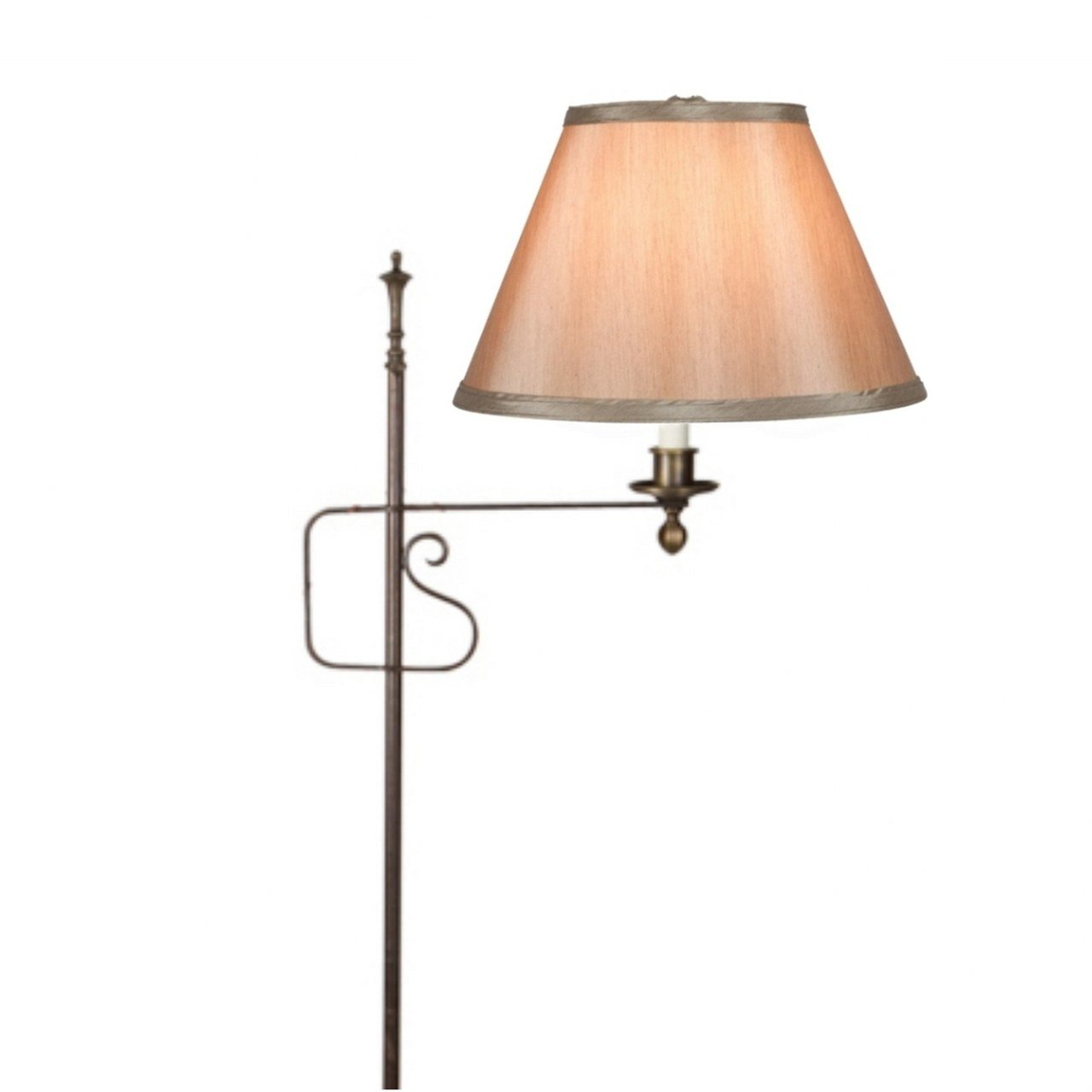 Upgradelights 10 Inch Bronze Silk Empire Clip on Replacement Lampshade (6x10x7.5))