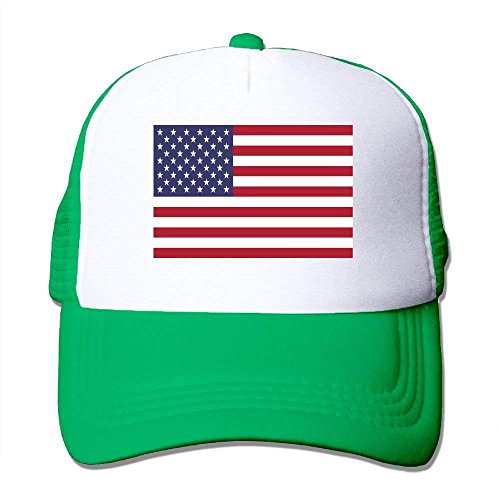 zengjiansm Gorras béisbol Mesh Hat Baseball Caps Grid Hat American Flag Adjustable Trucker Cap