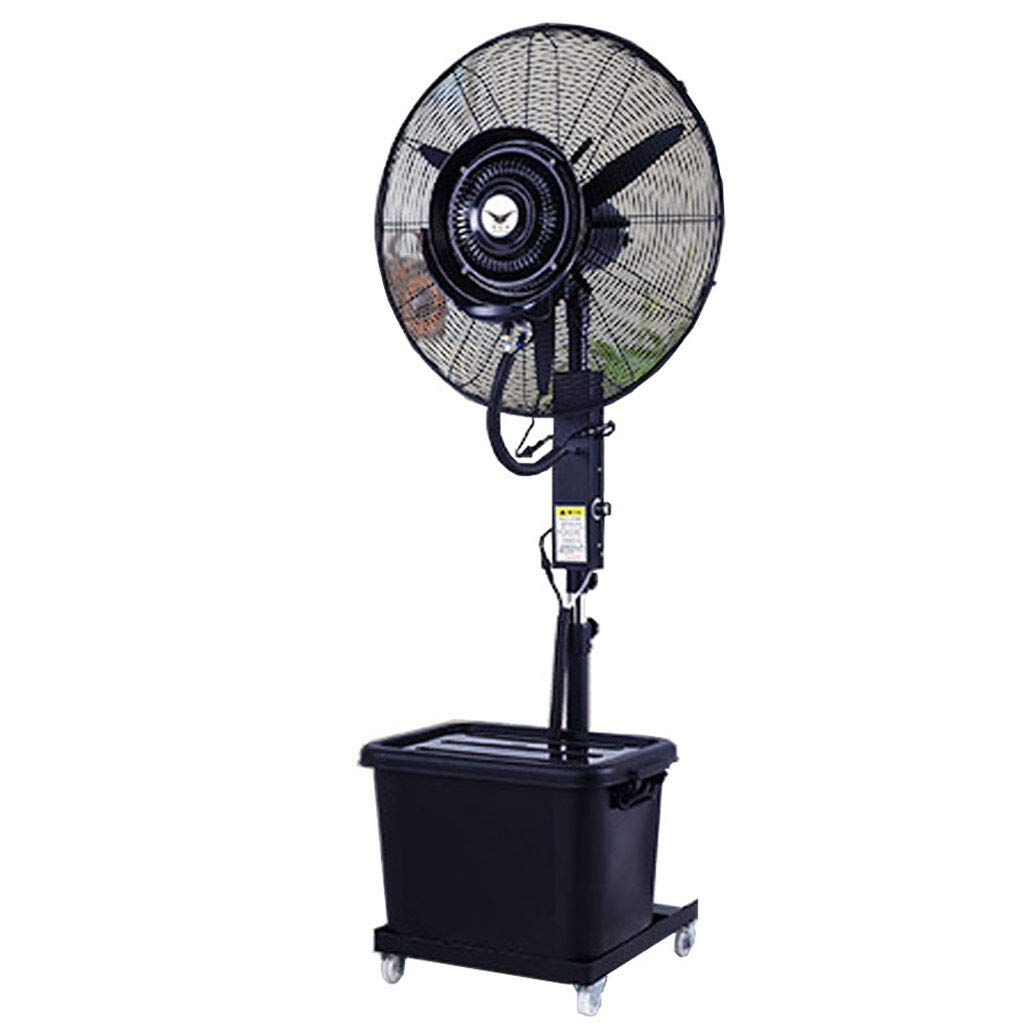 Misting Oscillating Stand Misting Fan Oscillating Lifting Outdoor High power Atomizing Shaking Head Industrial Spray Fan Suitable for Outdoor/Factory/Shopping Mall/Factory(32Inch Black) 120V/60Hz by MMLI-Fans