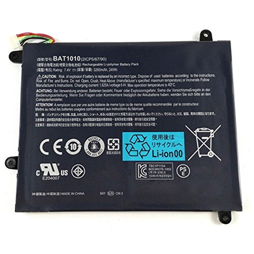 7.4V 3260mAh 24Wh BAT-1010 Laptop Battery For Acer Iconia Tablet A500 A501 A500-10S32u A500-10S16u BAT1010 BAT 1010 Tablet