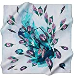 Aker 100% Silk Square Turkish Scarf Islamic Hijab Headscarf Spring 2017 #7300