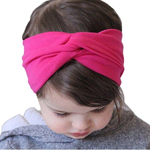 Coromose Baby Kids Girls Hairband Headband Hair Accessories Toddler Head Wrap (Hot Pink)