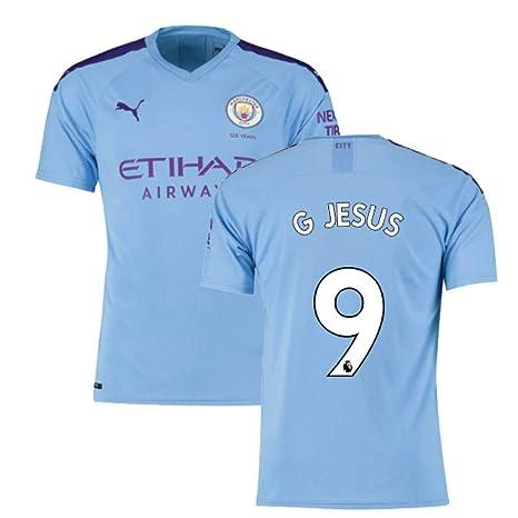 2019-2020 Manchester City Puma Home Football Soccer T-Shirt ...