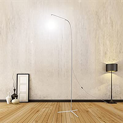 Dimmable LED Floor Standing Lamp Reading White Light for Living Room Bedroom with 1.5M Length USB LINE , 4 Level Adjustments Two-stage dimming, USB 8W 800 Lumens Brightness