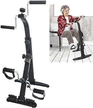 Bicicleta estática Ejercitador de brazos y piernas - Máquina para hacer ejercicio con brazos y piernas - Ejercitador de pedal portátil - Equipo de ejercicios para personas mayores y ancianos: Amazon.es: Deportes