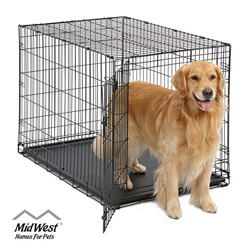Large Dog Crate | MidWest ICrate Folding Metal Dog...