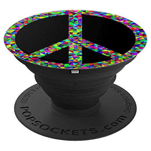 Groovy Trippy Peace Sign Hippy Costume Men Teen Women Gift - PopSockets Grip and Stand for Phones and Tablets]()