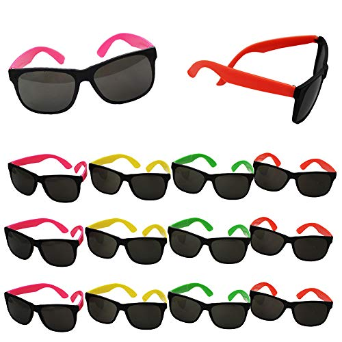Neon Sunglasses - Party Sunglasses - 80s Party Favors - Bulk Sunglasses - Pool Party - Beach Party Favors by Funny Party hats -